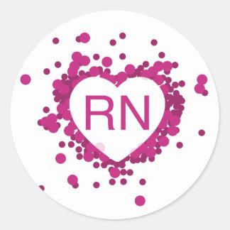 De roze Sticker van het Hart van de Verpleegster