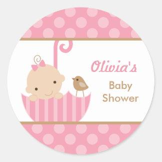 De roze Stickers van de Douche van het Meisje van