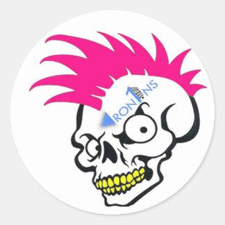 De roze Stickers van de schedel