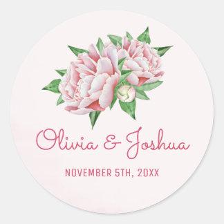 De roze Stickers van het Huwelijk van de Waterverf