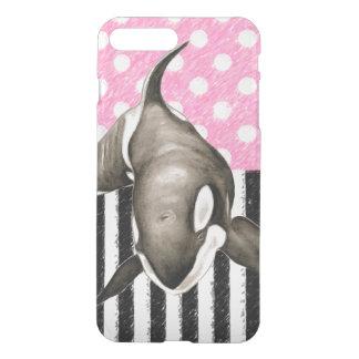 De roze stip van de Walvis van de orka iPhone 8/7 Plus Hoesje