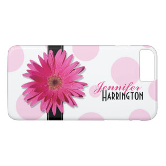 De roze Stip van Gerbera Daisy iPhone 7 Plus Hoesje