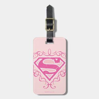 De Roze Strepen van Supergirl Kofferlabel