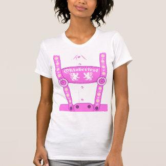 De Roze T-shirt Lederhosen van Oktoberfest