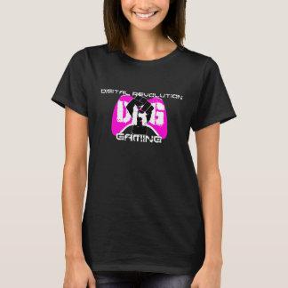 De roze T-shirt van het Logo: De Zwarte van