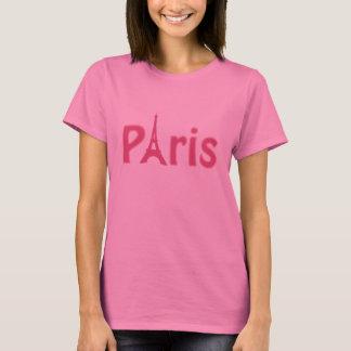 De roze T-shirt van het Logo van Parijs
