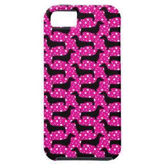De roze Tekkel van de Polka Tough iPhone 5 Hoesje