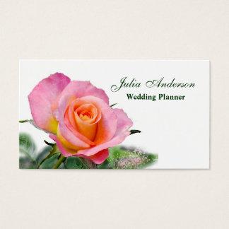 De roze Thee nam het Visitekaartje van de Visitekaartjes