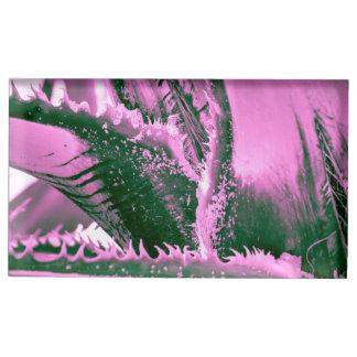 De roze Tijgerin van de Palm Tafelkaart Houder