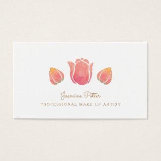 De roze Tulp maakt omhoog het Visitekaartje van de Visitekaartjes