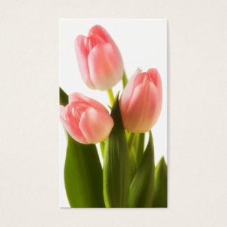 De roze Tulpen bloeien de BloemenSjabloon van de Visitekaartjes