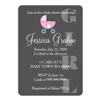 De roze Uitnodiging van BabyShower van het Meisje
