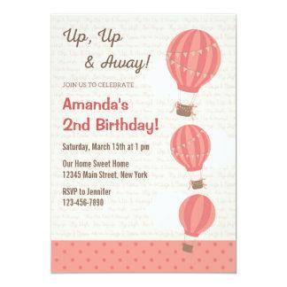 (De Roze) Uitnodiging van de Verjaardag van de 12,7x17,8 Uitnodiging Kaart