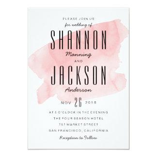 De roze Uitnodiging van het Huwelijk van de Was