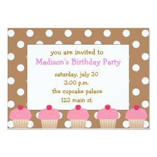 De Roze Uitnodigingen Cupcakes van de stip