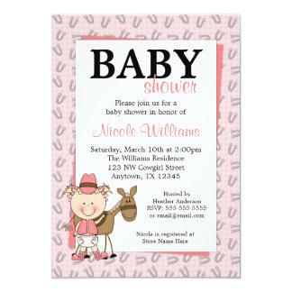 De roze Uitnodigingen van het Baby shower van de
