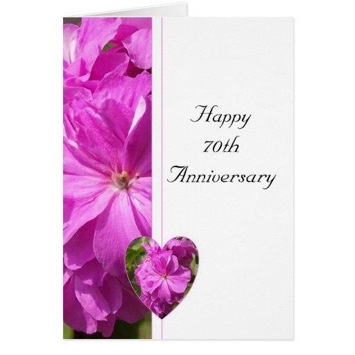 De roze Verjaardag van het Huwelijk van de Geraniu Kaarten