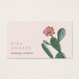 De roze Vintage Visitekaartjes van de Cactus