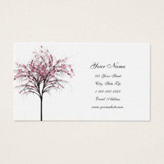 De roze Visitekaartjes van de Bomen van de Lente