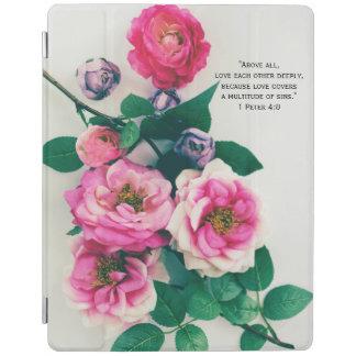 De roze Wildernis nam het Vers van de Bijbel van iPad Cover