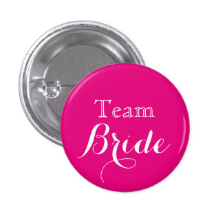 De roze Witte Bruid van het Team van het Huwelijk Ronde Button 3,2 Cm