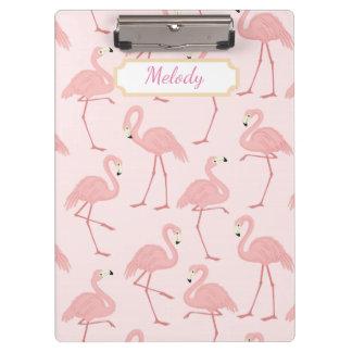 De roze Zaligheid van de Flamingo Klembord