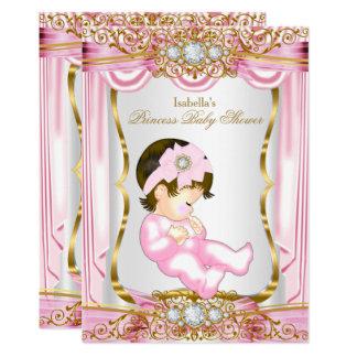 De Roze Zijde van het mooie Donkerbruine Baby Kaart