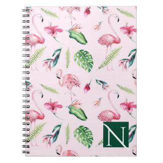 De roze Zomer van de Pret van de Hibiscus van de Notitieboek