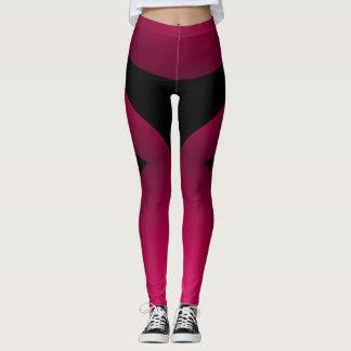 De roze Zwarte Sportieve Elegante Dans van de Leggings