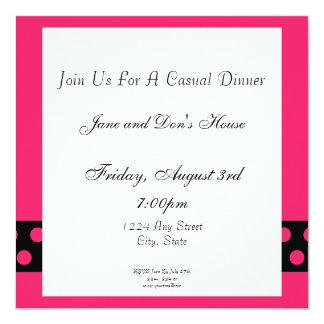 De roze & Zwarte Uitnodiging van de Lunch/van het
