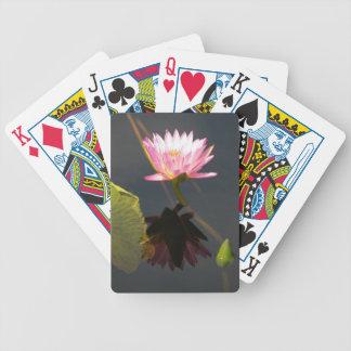 De rozeachtige Paarse Speelkaarten van Waterlily Poker Kaarten