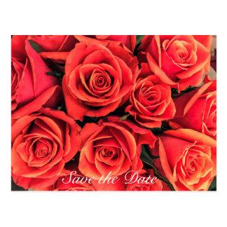 De rozen bewaren het Briefkaart van de Datum
