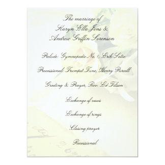 De rozen, hyacinten, oud handschrift verdwijnen 16,5x22,2 uitnodiging kaart