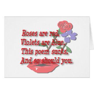 De rozen zijn Rode… Spatie Kaart