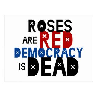 De rozen zijn Rood, is de Democratie Dood Briefkaart