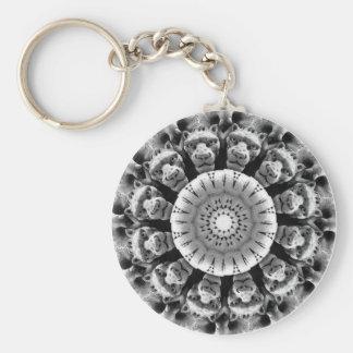 De Rozet Keychain van de gargouille Basic Ronde Button Sleutelhanger