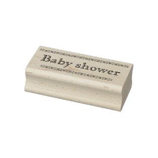 De rubberzegel van het baby shower rubberenstempel