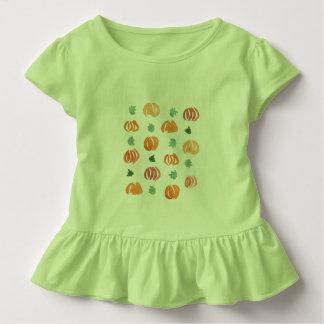 De rucheT-shirt van de peuter met pompoenen en Kinder Shirts