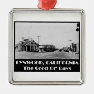 De Rug van Californië van Lynwood wanneer Zilverkleurig Vierkant Ornament