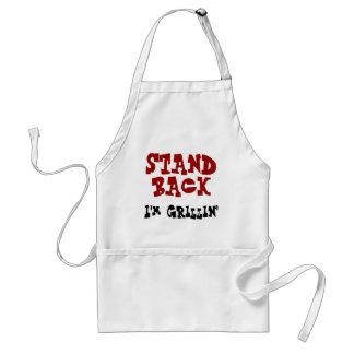 De rug van de tribune - ik ben BBQ Grillin Schort