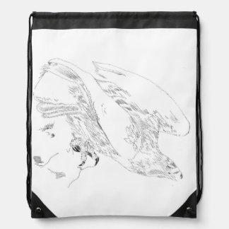 De rugzak van Drawstring met Pen en Inkt van Eagle