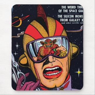De ruimte Dekking van het Boek van het Vintage Sci Muismat