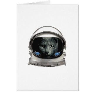De ruimte Kat van de Astronaut van de Helm Briefkaarten 0