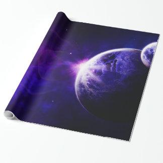 De ruimte Sterren van de Planeten van de Melkweg Cadeaupapier
