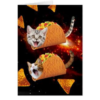 De Ruimte van de Katten van de taco Notitiekaart