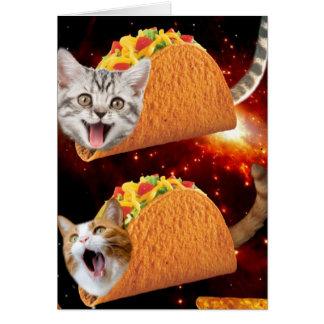 De Ruimte van de Katten van de taco Wenskaart