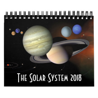 De RuimteAstronomie 2018 van de Planeten van het Kalender