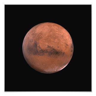 De RuimteAstronomie van de Marsbewoner van Mars Fotografische Afdruk