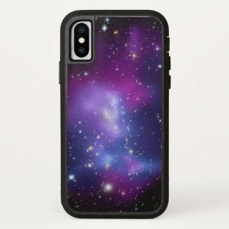 De RuimteFoto van paarse Melkwegen iPhone X Hoesje
