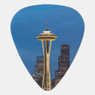 De ruimteNaald en Seattle van de binnenstad Gitaar Plectrum